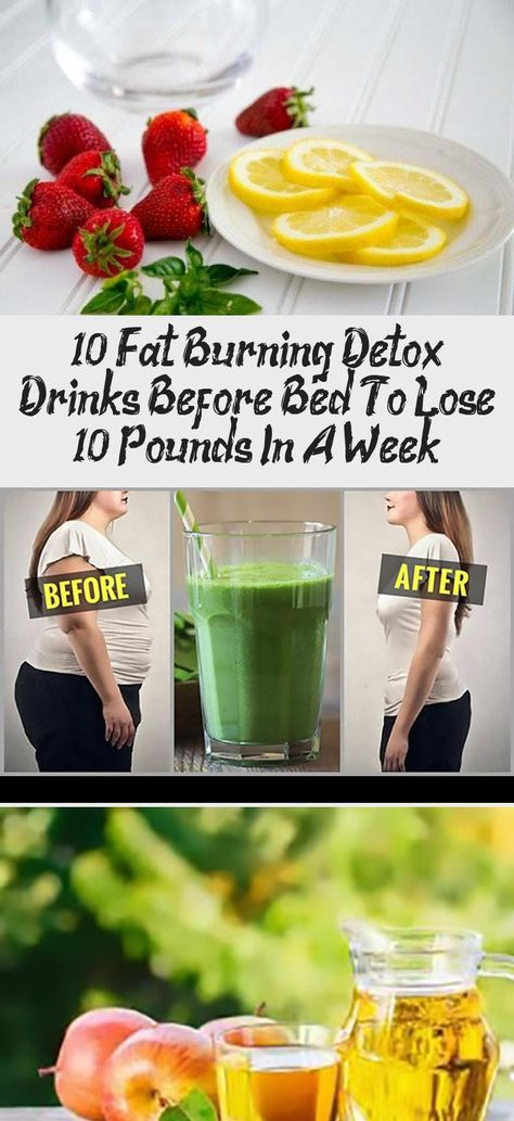 best thing to drink before bed to lose weight
