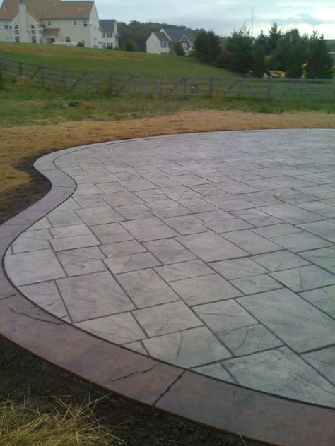 Stamped Concrete Design Focus On Minor Details It Will Be Possible To Make A Fascinating Look By Using Sma Concrete Patio Concrete Patio Designs Cement Patio