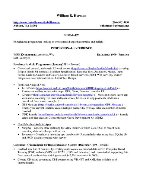 Attractive Sample Resume Self Employed Person A Success Of Your Business   Xml Resume  Example Ideas Xml Resume Example