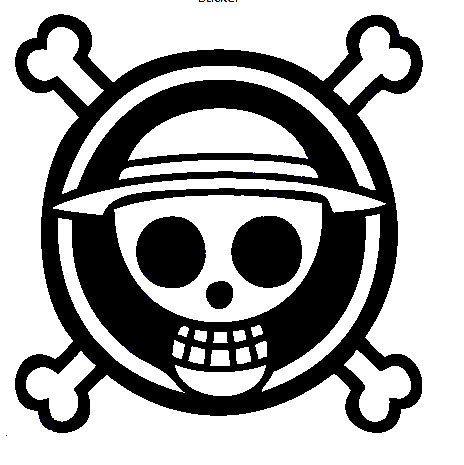 One Piece Logo Transparent Png Bajak Laut Stiker Stiker Mobil