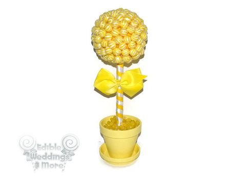 Yellow Lollipop Topiary Yellow Candy Topiary by EdibleWeddings, $44.99