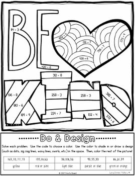 Long Division Color By Number Do And Design Long Division Fun Math Worksheets Math Strategies Number chart worksheets long division
