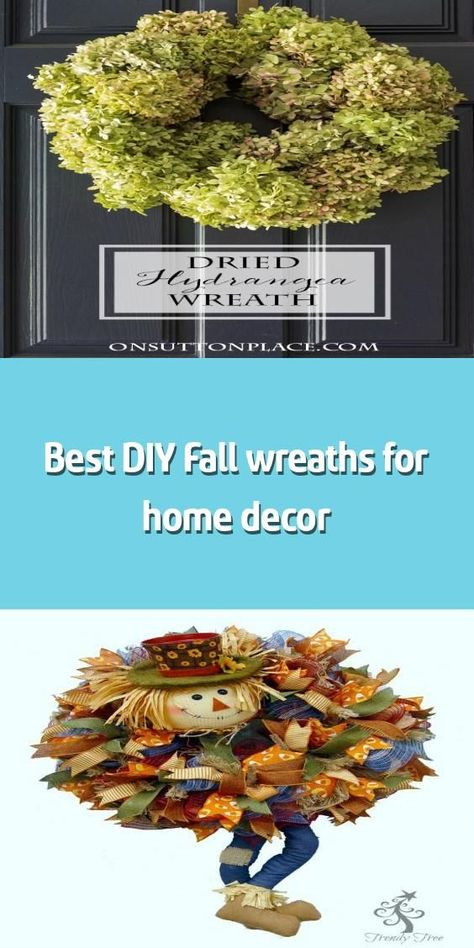 Best DIY Fall wreaths for home decor -    Introducing this Fall, a collection of...,  #Collection #Decor #DIY #easyfallwreathsimple #Fall #home #Introducing #Wreaths