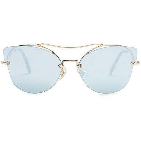 1e7384a441c Miu Miu Scenique cat-eye sunglasses (£257) ❤ liked on Polyvore featuring
