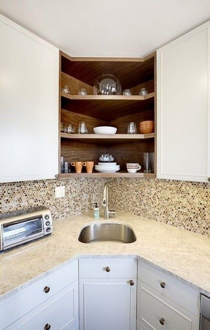 Kitchen Corner Cupboard Apartment Therapy 28 Ideas Small Apartment Kitchen Corner Sink Kitchen Kitchen Remodel Small