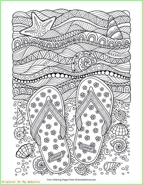 kunst grundschule  beach flipflops adult coloring page