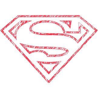 Superman S Shield Red Outline Logo Superman Coloring Pages Superman Superman Art