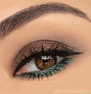 Smokey Eyes With Green And Browns Makeup Tutorial Brown Eyeakeup