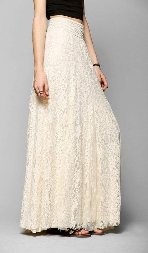 Lace Skirt - S / White