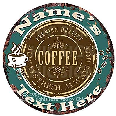 Cafe Coffee House Pub LOOK VINTAGE STYLE Rétro Métal Signe bar pub MANCAVE