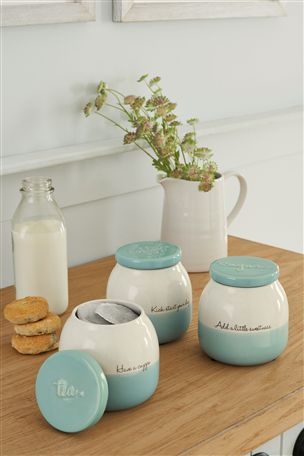 Teal Love Storage Jars Set Of 3 From The Next Uk Online Kitchen Stuff Pinterest And Jar