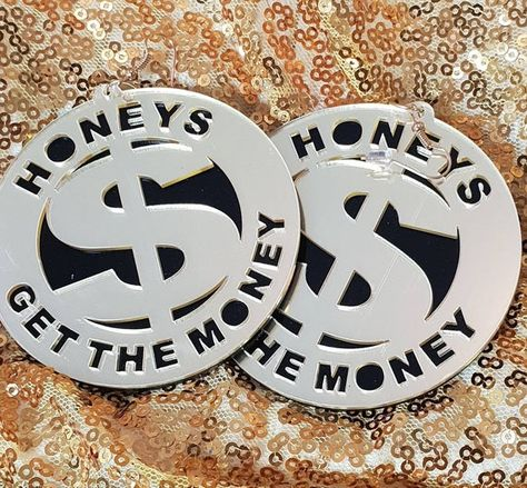Black and Gold |Honeys Get That Money |   Pop Art |culture and the mass media of women getting their
