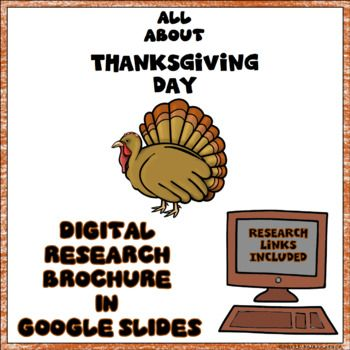Thanksgiving Day Digital Research Brochure Thanksgiving Party
