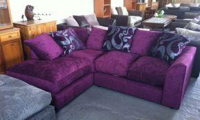 Purple Velvet Sectional Sofa Awesome Enchanting Terrific Sofas