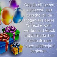 Geburtstagsspruch: Was du dir selbst wünschst das wünsche ich dir! Mögen al