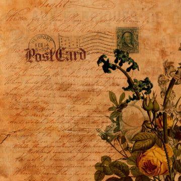 الأنيق زهري ورقة قديمة الخلفية جميل فروع Png وملف Psd للتحميل مجانا Old Paper Background Old Paper Clip Art Vintage