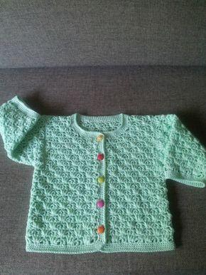 crochet baby cardigan                                                                                                                                                                                 Más