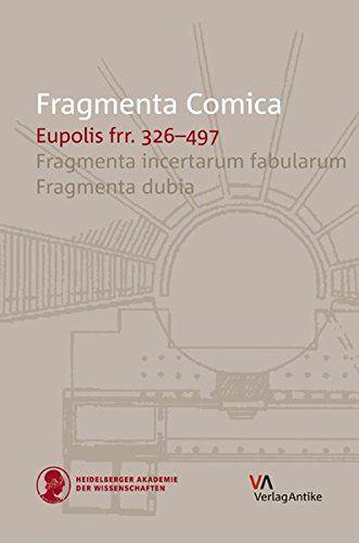 Eupolis Frr 326 497 Translation And Commentary Em 2020 Heidelberg Autores Literarios