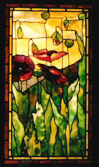 Stained glass can be in Art Nouveau