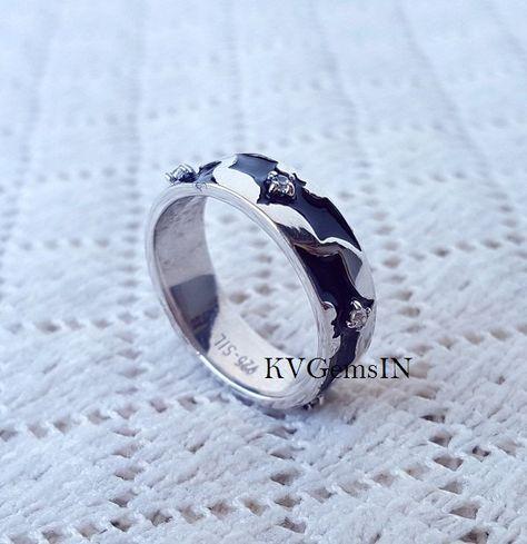Batman Wedding Ring, Dark Knight Ring, 925 Sterling Silver, Superhero Ring by…
