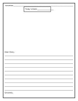 Diary Entry Template from i.pinimg.com