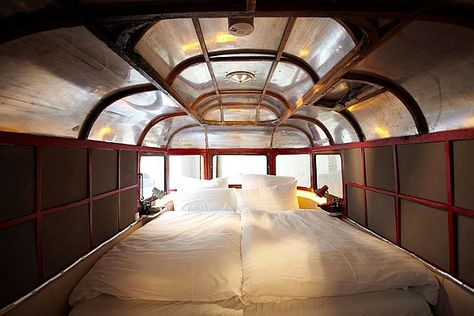 76d0d904f5 ... Hüttenpalast Hotel is located inside a camper with a sculptural  ceiling.  InteriorDesignMagazine  InteriorDesign  Design  Hüttenpalast   Berlin  Germany