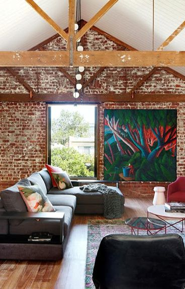 A Melbourne Warehouse Transformed Into A Warm And Inviting Contemporary Home Home Contemporary House Home Decor Inspiration