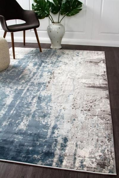 Kendal 1733 Blue Rug Grey White Blue Rugs Living Room Grey And