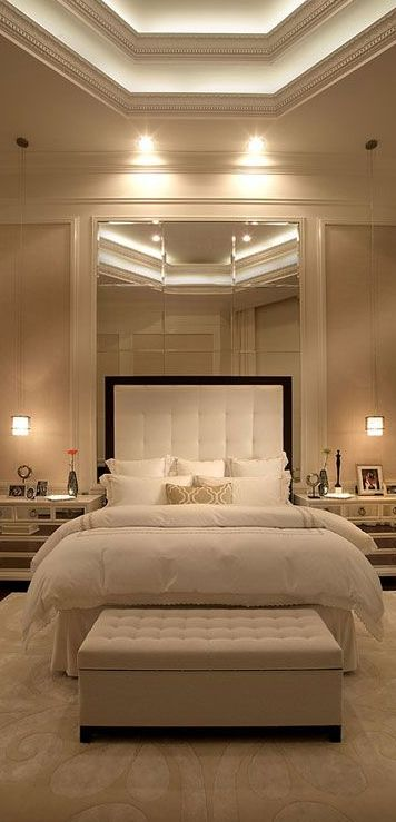 pretty pictures of luxury bedrooms. Instant luxury  overfilled throw pillows uncluttered side tables and hanging lamps 301 best Bedrooms images on Pinterest Master bedrooms Bedroom
