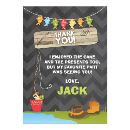 Fishing Birthday Thank You Card Party