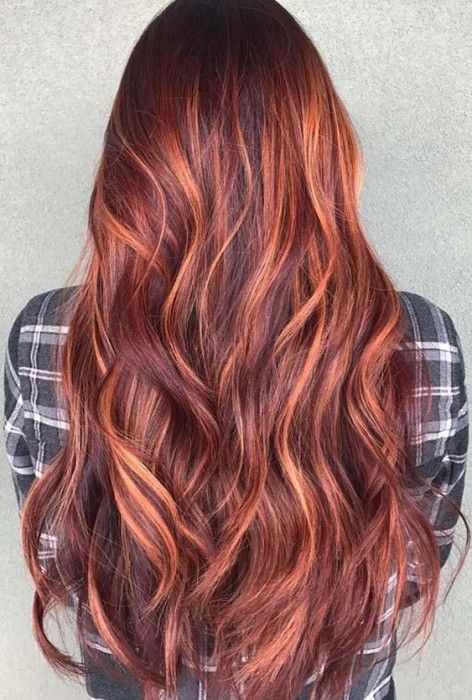 50 Red Hair Color Ideas With Highlights Hairstyles Update Red Hair Inspiration Red Balayage Hair Fall Hair Colors