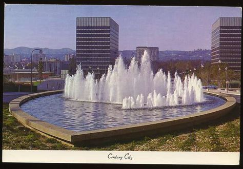 """The first fountain to be built in the """"heart"""" of Century City."""