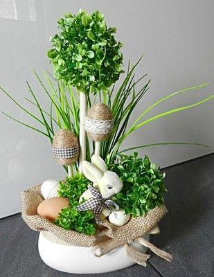 Image Result For Stroiki Wielkanocne Na Cmentarz Allegro Easter Floral Arrangement Easter Flower Arrangements Easter Arrangement
