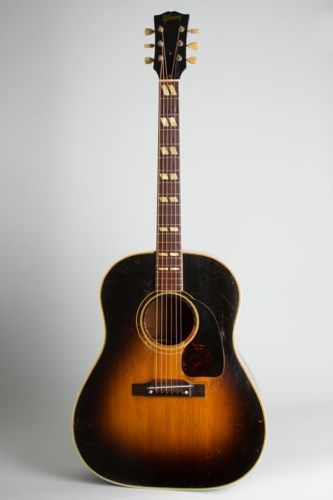 1952 Gibson Sj Southern Jumbo Sunburst Top Dark Back And Sides 6 750 00 Gibson Guitars Acoustic Acoustic Guitar Acoustic Guitar Tuner