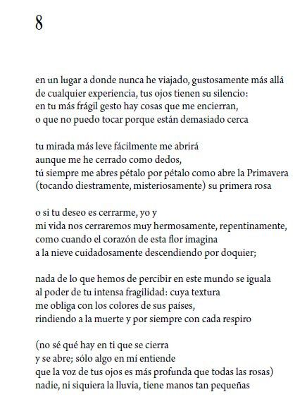 E E Cummings De Viva 1931 Poemas Gestos