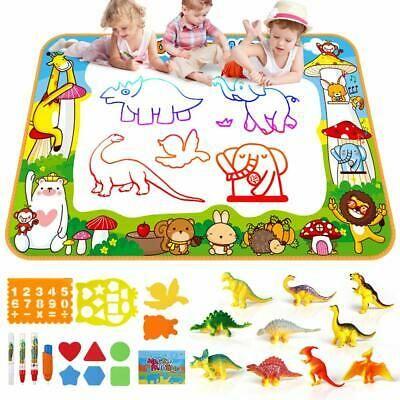 Ad Aqua Magic Water Drawing Mat Set 10 Dinosaur Toy Set 26 Pcs Toys For Boys Dinosaur Toys Educational Toys For Toddlers