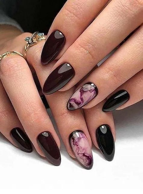 120 elegant autumn nail designs have to try -page 20 - homeinspins.com
