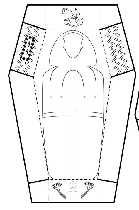 Egyptian Sarcophagus Designs Then I Did A Line Drawing And