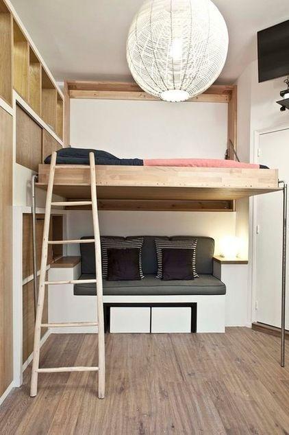 Modern Schlafzimmer By Geraldine Laferte Hochbett Selber Bauen