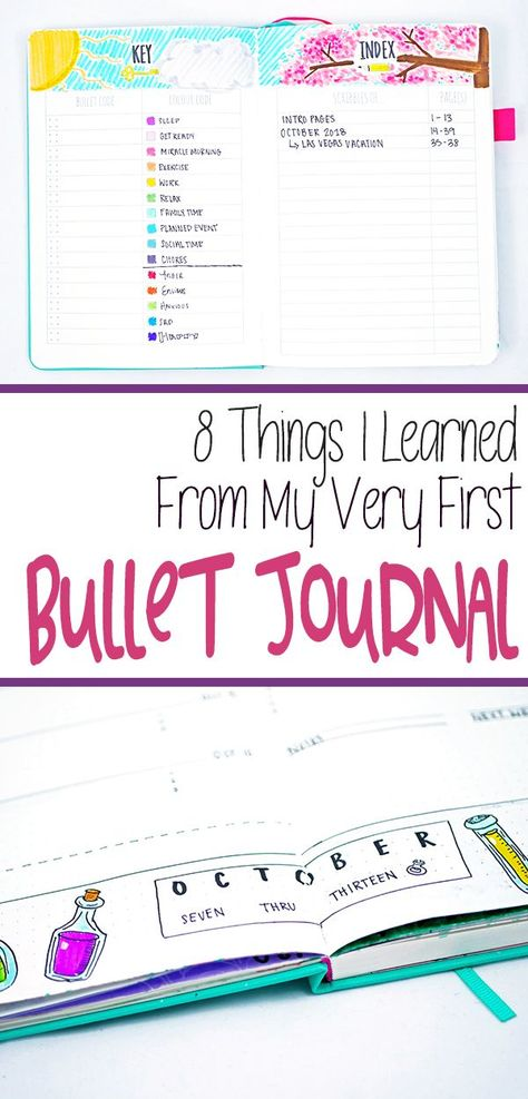 Bullet journals are a lot of work. Learn my experience from my first bullet journal along with helpful tips to make your first bullet journaling experience easier! A great bullet journal reference guide for beginners. #bulletjournal #bujo #firstbulletjournal #howtobulletjournal #bujocommunity #planner #journaling #journal #journalideas