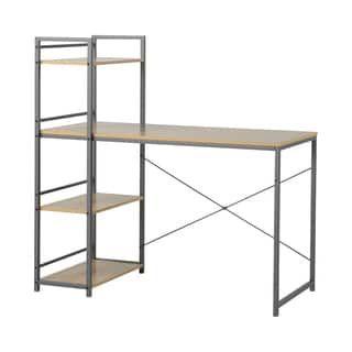 Shop For Homestar Desk With Built In 4 Shelf Bookcase In Natural Wood. Get.  Online MöbelBücherregaleJunge ...