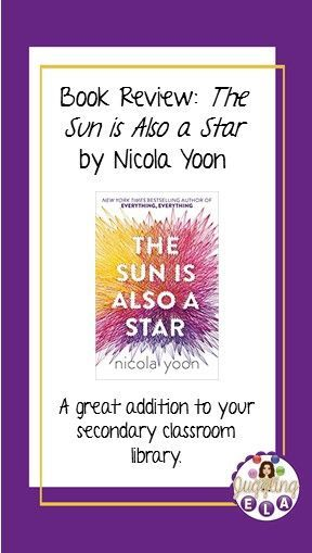 Book Review The Sun Is Also A Star By Nicola Yoon With Images