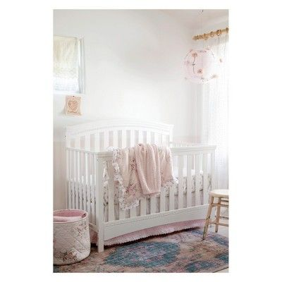 Nursery Pink Floral Decorative Lantern Simply Shabby Chic Pink Crib Bedding Pink Crib Simply Shabby Chic