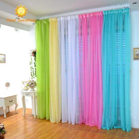 Jalousien Tüll Gardinen rideaux chambre vliegen gordijnen Rainbow Cortina Gardinen ... -  - #chambre #Cortina #gardinen #gordijnen #Jalousien #rainbow #rideaux #tüll #vliegen