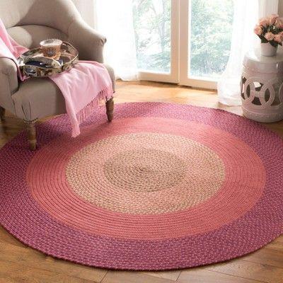 Color Block Woven Round Area Rug 6 Safavieh Braided Rug Diy Rugs On Carpet Braided Rugs