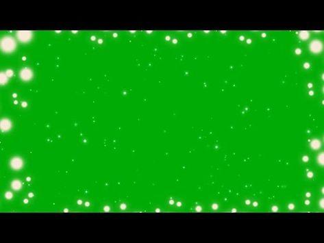 Hd Free Magic Particles Green Screen Glowing White Spots