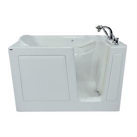 Safety Tubs 1 Person White Gelcoat Fiberglass Rectangular Walk In