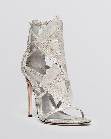 B Brian Atwood Open Toe Evening Sandals - Luanna High Heels