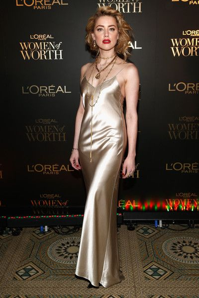 Amber Heard attends the L'Oreal Paris Women of Worth Celebration at The Pierre Hotel.