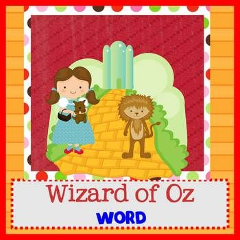 WIZARD OF OZ - Newsletter Template WORD - newsletter template for word